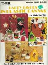 Plastic Canvas Pattern Booklet-Party Favors in Plastic Canvas-Christmas-... - $4.95