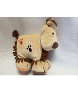 Jellycat Jelly Kitten Tan Plush Puppy Dog Cloth Book Rattle Crinkle Baby... - $14.99