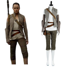 Star Wars: Episode VIII The Last Jedi Rey Outfit Cosplay Costume Uniform Suit - $85.00+