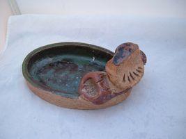 Owl Ashtray Figurine Trinket tray handmade Glazed Westmarland 78 Vtg woodland image 3