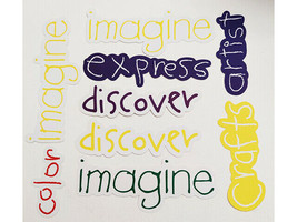 Crayola Word Die Cut Shapes, 36 Cardstock Pieces image 2
