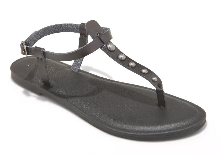 Universal Thread Women's Kylianne Vegan Summer Thong Sandals Black