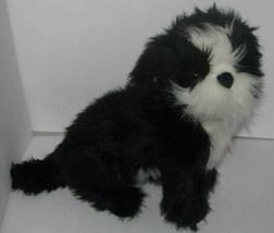 Melissa & Doug Black & White Shih Tzu Puppy Dog Plush Stuffed Toy 17 Inches - $34.63
