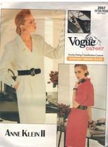 2057 Uncut Vogue Muster Misses Wickelkleid Anne Klein II Karriere Oop Sew - $8.98