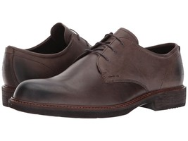 Men's ECCO Kenton Vintage Leather Plain Toe Lace Oxford, 512004 02559 Da... - $143.96