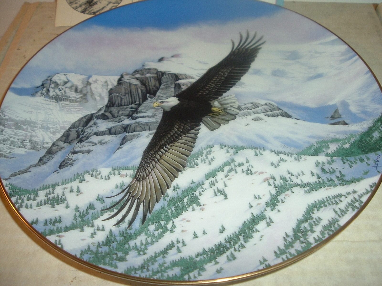 1988 Hamilton Collection The Eagle Soars Plate w/ COA and Box