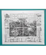 HUNTING Fox Pole Otter Polecat Wild Cat Nets Traps - 1844 Superb Print - $25.20