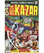Ka-Zar Lord of the Hidden Jungle Comic Book #18 Marvel Comics 1976 FINE- - $2.75