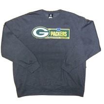 Green Bay Packers Sweatshirt Sz XL NFL Team Apparel Gray Green and Gold - $24.18