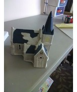 Holiday Expressions Ceramic Church for Christmas Village - $5.51