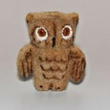 """Vintage Fuzzy Brown Owl Figurine 3 1/2"""" Tall Kunstlerschutz Handwork W G... - $21.77"""