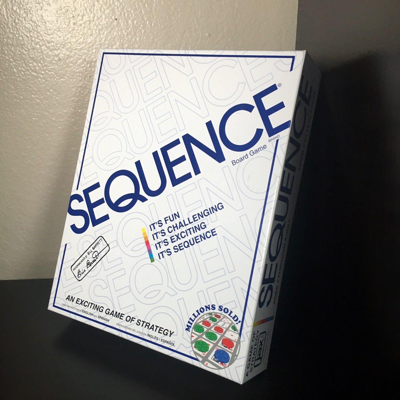 NEW Sequence Strategy Board Game Cards Chips SEALED by Jax Games 1995 Family Fun