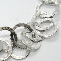 Choker Necklace Silver 925 with Circles Worked by Maria Ielpo , Made in Italy image 2