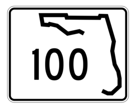 Florida State Road 100 Sticker Decal R1428 Highway Sign - $1.45+