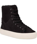UGG Beven Genuine Shearling High Top Sneaker Black Suede Women's Size 7.5M - $95.03