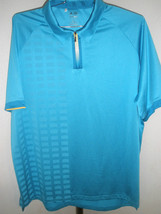 Men's Adidas Golf ClimaCool Golf Capri Blue Polo; Colored Zipper Size XL - $39.59