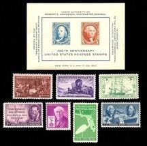 1947 Year Set of 7 Commemorative Stamps & S/S Mint NH - Stuart Katz - $7.50
