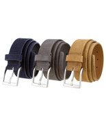 "LEJON Belt 41101 Genuine Suede Leather Casual Belt 1-1/2"" wide Made in U... - $24.95"