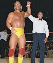 Hulk Hogan Muhammad Ali CTK Vintage 11X14 Color Wrestling Memorabilia Photo - $14.95
