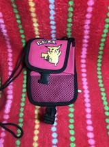 Vintage 1998 Pokemon Pikachu Salmon / Pink gameboy  carrying case - $13.20