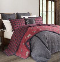 Cowgirl Kim Woodland Plaid Reversible Quilt Set - $205.00+