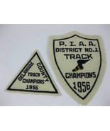Vintage 1956 Delaware County PIAA District No. 1 Track Champions Patches... - $25.00