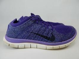 Nike Free Flyknit 4.0 Size 8 M (B) EU 39 Women's Running Shoes Purple 631050-500