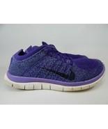 Nike Free Flyknit 4.0 Size 8 M (B) EU 39 Women's Running Shoes Purple 63... - $60.06