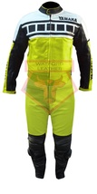 YAMAHA 6728  MOTORBIKE MOTORCYCLE FLUORESCENT COWHIDE LEATHER ARMOURED 2... - $339.99