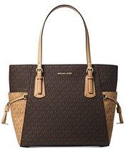 Michael Kors Women's Jet Set Travel Small Logo Tote Bag (Brown/Butternut/Gold) - $341.04