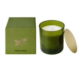 NEW IKEA Njutning Scented Candle in Glass Herbal Garden - Coriander, Bas... - $17.75