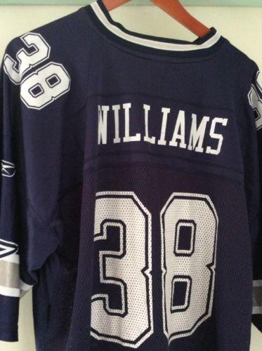 a05bf73f9 Dallas Cowboys Reebok XXL  38 Roy Williams Blue Throwback Jersey Mens