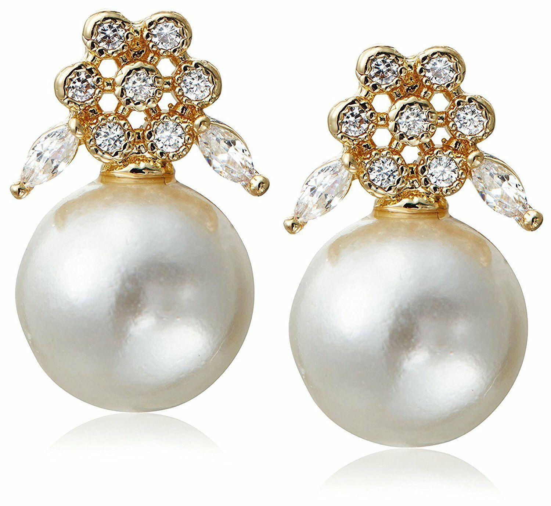 Stella + Ruby Placcato Oro Paese Delle Meraviglie Perle Zircone Cubico Cristallo