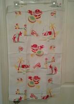 "Vintage Kitchen Towel Mexican Pottery Burros Cactus Houses 27 1/2"" x 16 ... - $17.75"