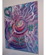 Original Painting with Etherium Gold - Multi-dimensional Sacred Art A15 - $333.00