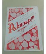 RARE 1949 Pakusap Canion Fillipina Sheet Music Signed  By Amelita Galli-... - $176.41