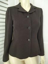 ANN TAYLOR PETITES Blazer 2P Stretch Wool Blend Black Speck Button Front... - $42.54