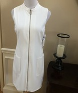 NWT! 1.State White Sleeveless Zip-Front Dress - Size 6 $129  - $48.49