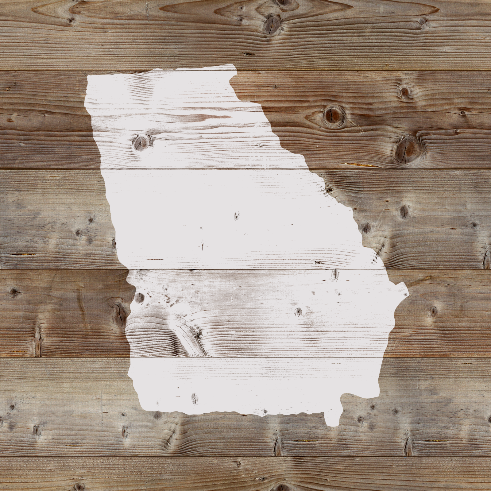 Georgia State Stencil - Reusable Stencils of Georgia State in Multiple Sizes