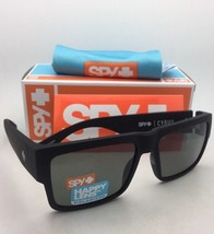 Polarized SPY OPTIC Sunglasses CYRUS Soft Matte Black Frame w/ Happy Grey Green