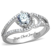 WOMEN'S STAINLESS STEEL 0.75 CT ROUND CUT BRIDAL CZ ENGAGEMENT RING SIZE... - $16.64