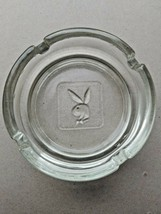 "Vintage Playboy Bunny 4"" Clear Glass Ashtray Man Cave NICE ! - $11.98"