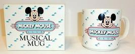 NEW Walt Disney Mickey Mouse Club Musical Coffee Mug Cup with Original Box - $13.29