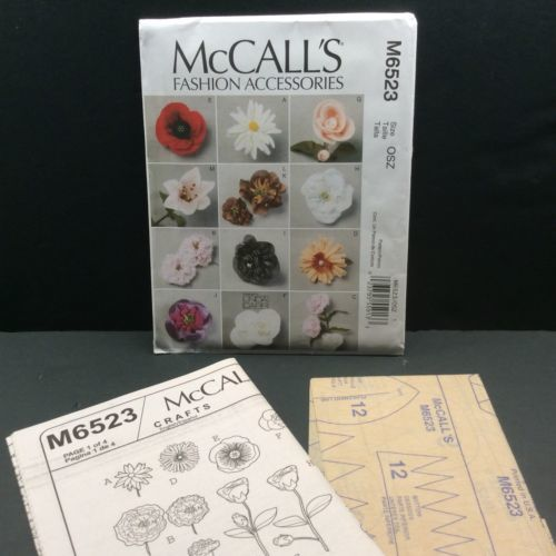McCalls Crafts Sewing Pattern Fabric Flower and 28 similar items