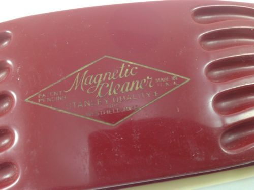 Vintage Stanley Magnetic Cleaner - circa 1940s-50s Magnetic Cleaner