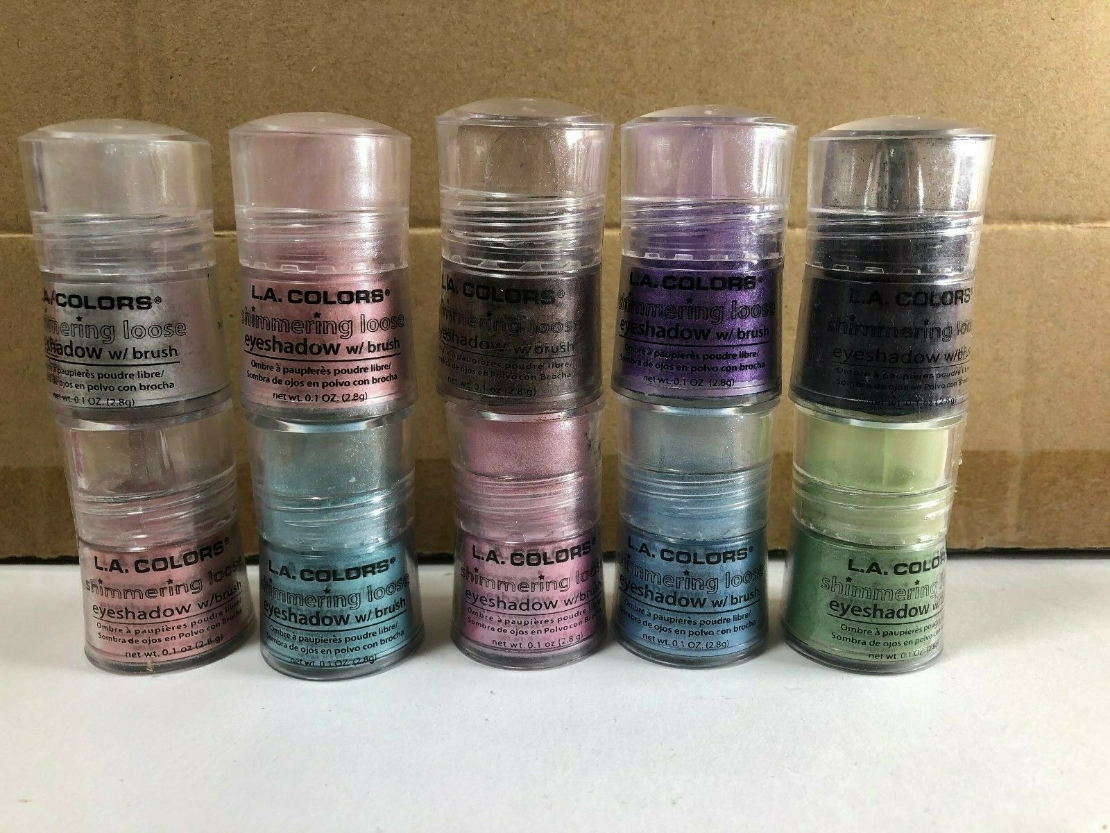 Primary image for L.A Colors Shimmering Loose Eyeshadow With Brush Choose Your Color New Sealed