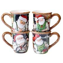 Certified International Santa's Workshop Mugs (Set of 4), 16 oz, Multicolor - $30.01