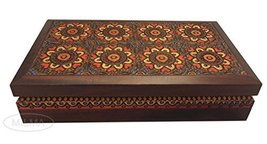 Handmade Jewelry Box Polish Linden Wood Keepsake Ornate Hearts Decorativ... - €51,67 EUR
