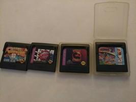 Sega Game Gear lot Of 4 Mortal Kombat Sonic 2 Olympic Gold NBA Jam UNTES... - $8.00