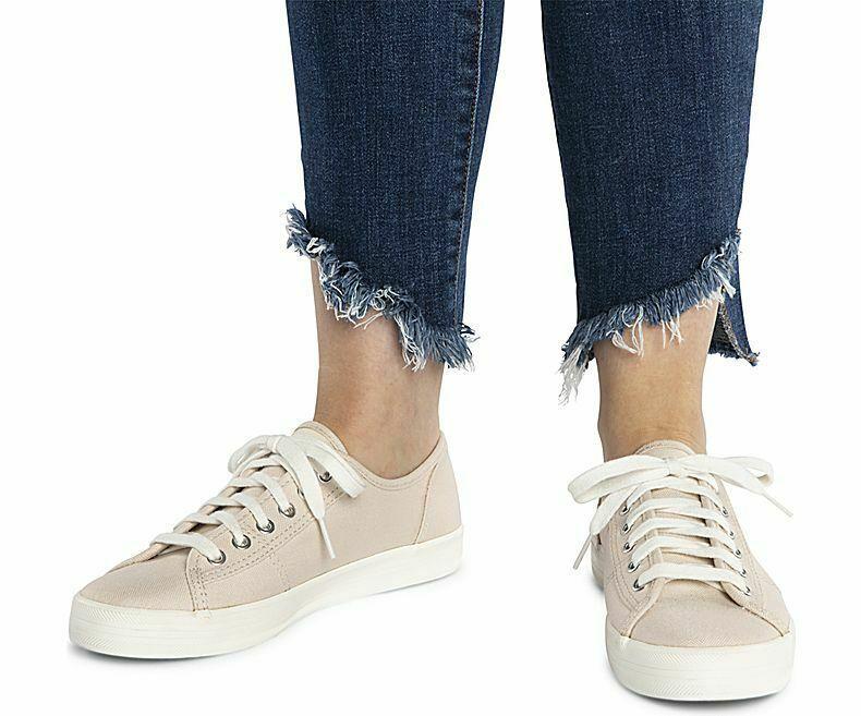 Keds WF59236 Women's Kickstart Shimmer Chambray Petal Pink Shoes, 8.5 Med